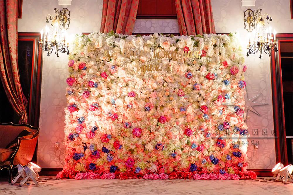 Фотофон из цветов