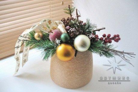 Новогоднее украшение стола на празднике