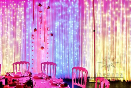 Новогодняя подсветка банкетного зала или ресторана