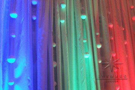 Полотна ткани с подсветкой для оформления новогоднего корпоратива