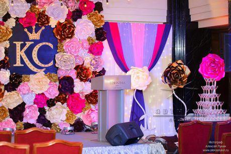 Оформление сцены на свадебной выставке