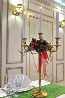 Канделябры на столы для встречи нового года