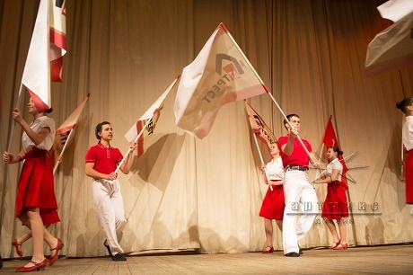 Флаг-шоу и Флаговое шествие в оформлении юбилея организации