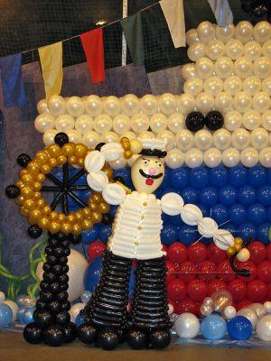 Капитан  – фигура из воздушных шаров