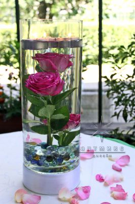 Оформдление зала живыми цветами