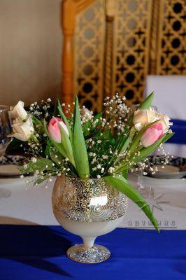 Оформление торжественного мероприятий живыми цветами в вазонах