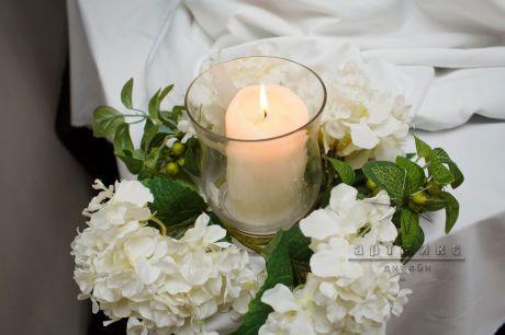 Цветы и свечи  в  оформлении мероприятия