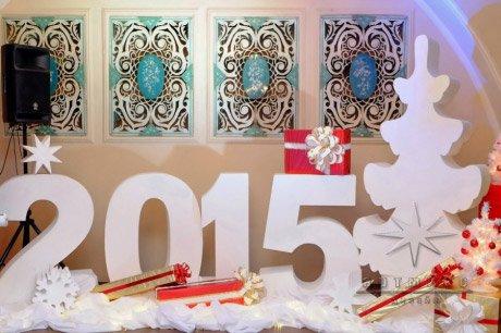 Цифры на новый год в ресторане или банкетном зале