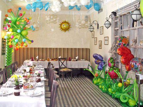 Оформление зала в ресторане на день рождение ребенка