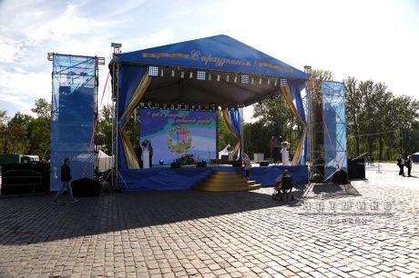 Оформление праздничного мероприятия, посвященный 314-й годовщине основания Кронштадта