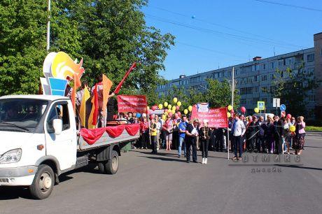 Торжественное шествия-парада на день города Кириши