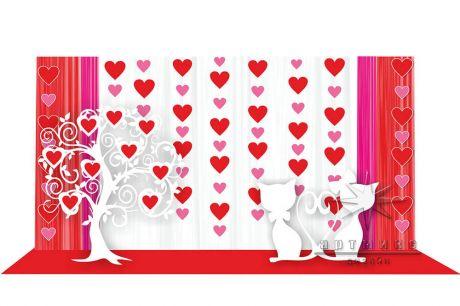 Фотозона Love на День Святого Валентина в ТРЦ