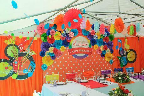 Декор шатра в украшении праздника