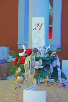 Рассадка гостей в стиле новогоднего праздника