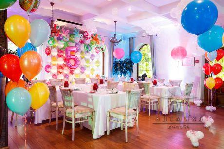Оформление детского дня рождения в сказочном кафе Пирс на Крестовском острове