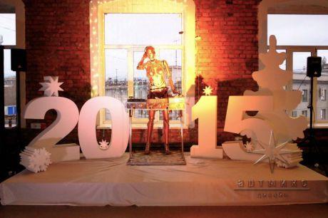 Новогоднее корпоративное оформление на площадке Скороход