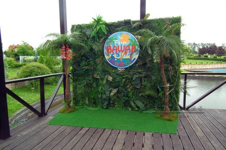 Фотозона party hawaii для гавайской вечеринки за городом