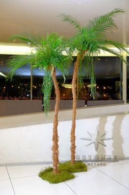 Декоративная пальма с натуральными листьями