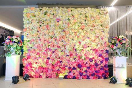 Асимметричная фотозона из цветов