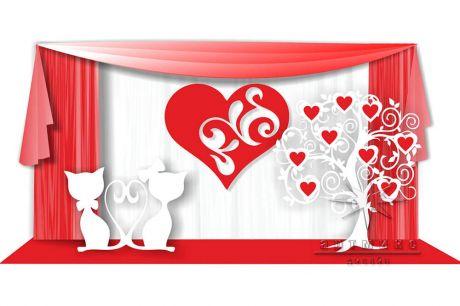 Фотозона День Влюбленных