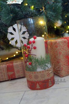 Новогодний декор свечи