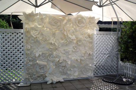 Стена из цветов Цветочное Парфе