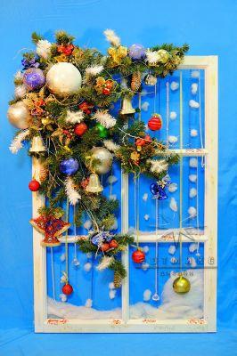 Объемное новогоднее панно * Сказочное окно