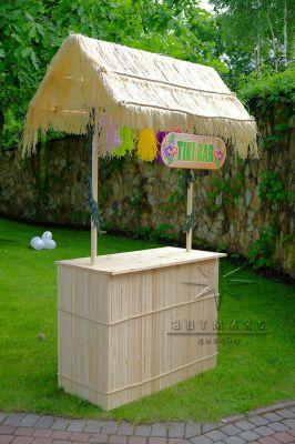 Тики бар в аренду для проведения гавайской вечеринки