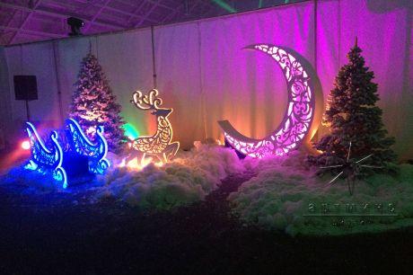 Новогодний декор корпоративного мероприятия в Grand Palace Sport