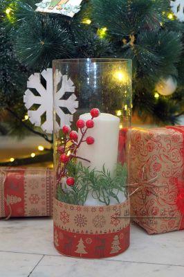 Декор - новогодняя свеча
