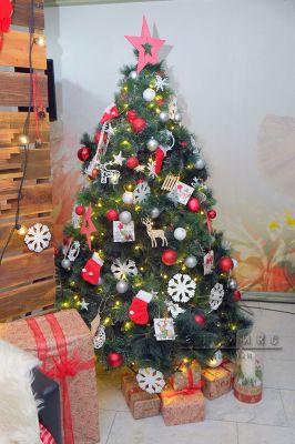 Новогодняя ёлка с элегантным украшением