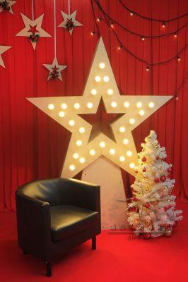 Фотозона Звезда с ретро лампочками