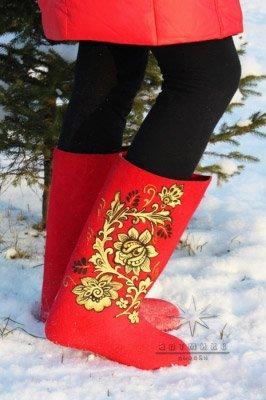 Подарок для себя к зиме № 6 Хохлома. Красные.Бок. 2. Стоимость такой модели 6.500 ₽