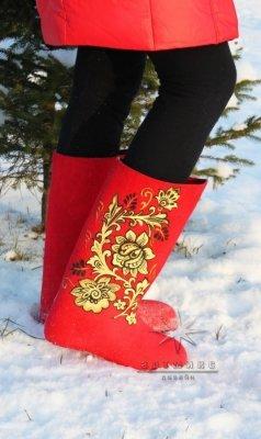 Эксклюзивный подарок - Валенки красные и белые, любых цветов и оттенков