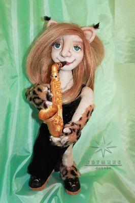 Авторская текстильная кукла *Анна-Рысь*