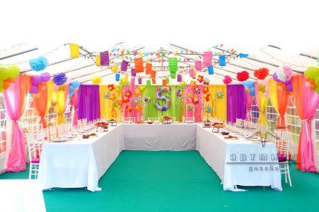 Декорирование шатра для детского дня рождения