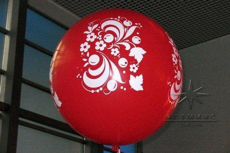 Интересное декорирование мероприятия с помощью шаров  в традиционной русской тематике