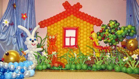 Оформление зала для малышей