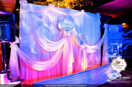 Дизайн сцены на выставке Королевство свадеб 2013 год