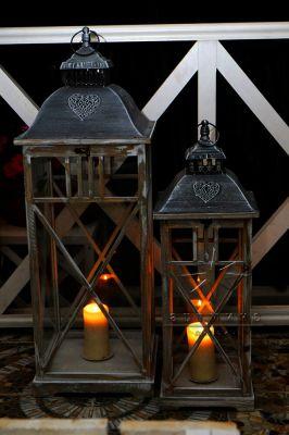 Напольные фонарики к празднику