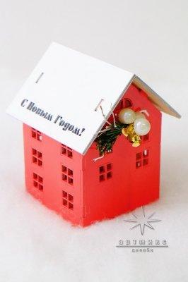 Новогодний сувенир домик светильник • Цена договорная  Арт 77704