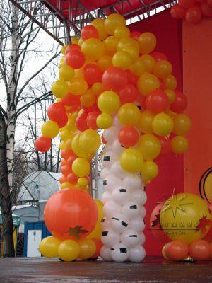 Тематическое оформление праздника высококачественными фигурами из воздушных, баннерами на *Диво Острове*