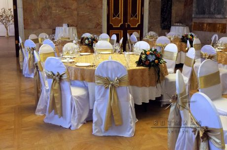 Стильное и элегантное оформление зала к юбилею
