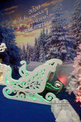Фотозона на Новый год в фитнес-центре TAURAS-FITNESS