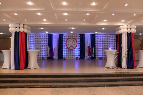 Праздничное оформление холла предприятия на 75 – летний  юбилей