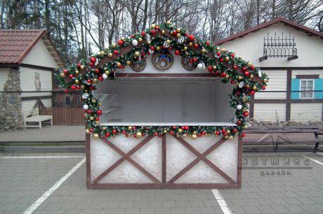 Новогоднее оформление в ресторане АЛЬПЕНХАУС