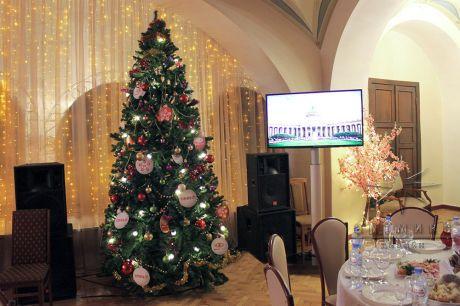 Новогоднее оформление банкетного зала