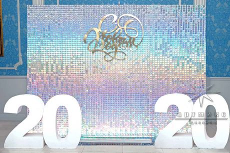 Новогодняя фотозона с цифрами 2020