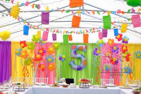 Оформление шатра на детский день рождения