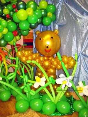 Оформление на детский  День рождения  шарами